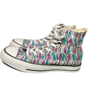 Converse chuck taylor all star feather print w8 m6